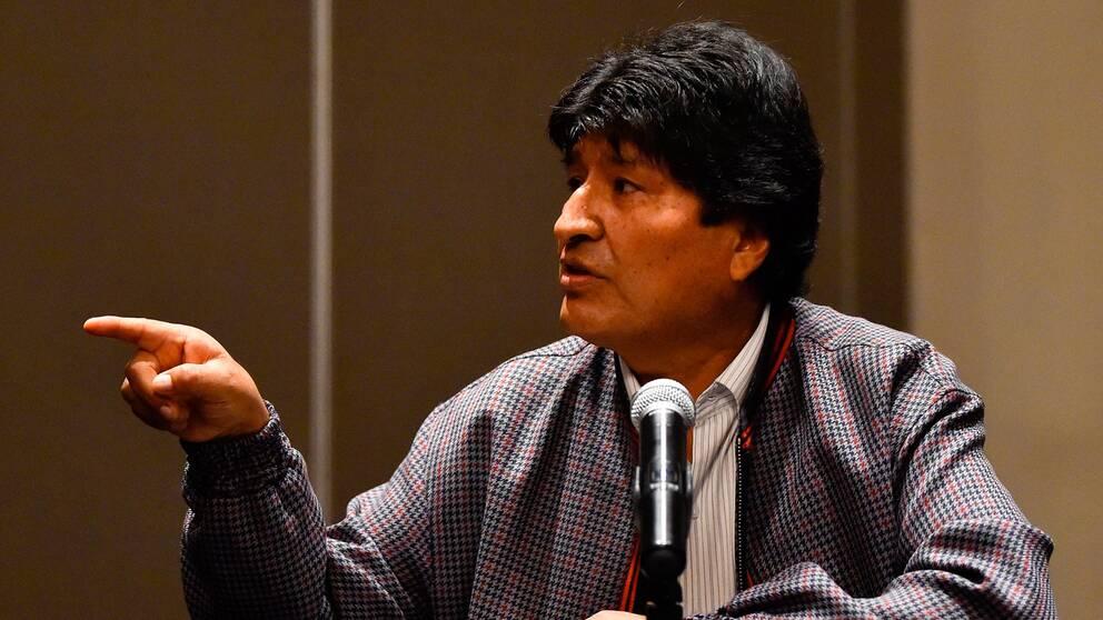 Arkivbild. Bolivias före detta preident Evo Morales.
