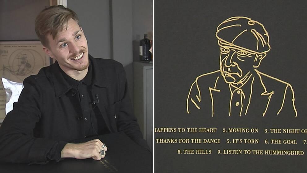 Daniel Ekelund och illustration Leonard Cohen