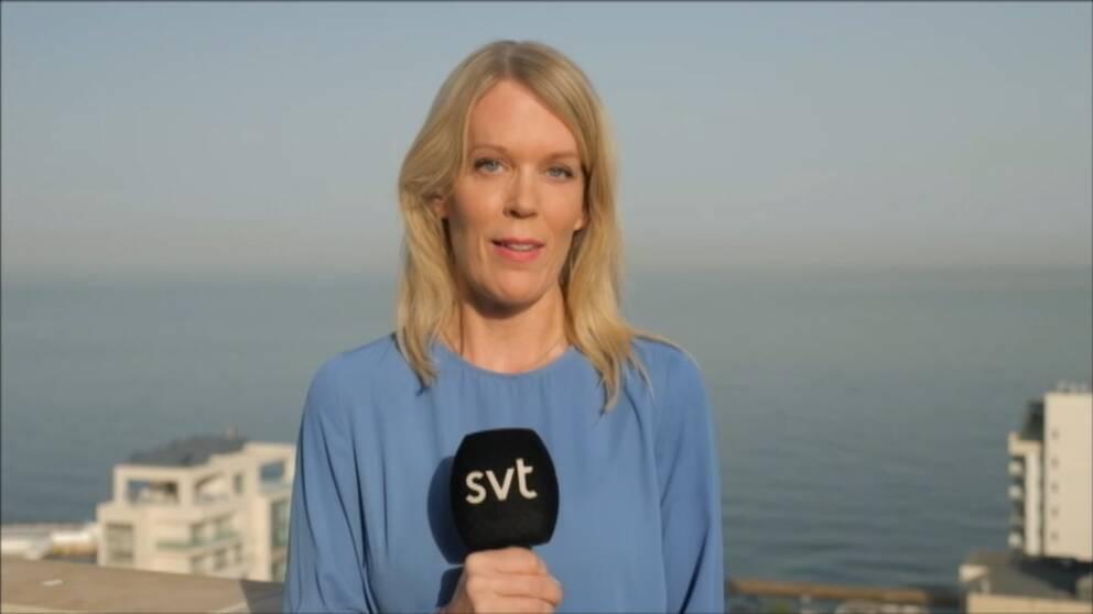 SVT:s Mellanösternkorrespondent Stina Blomgren. Arkivbild.