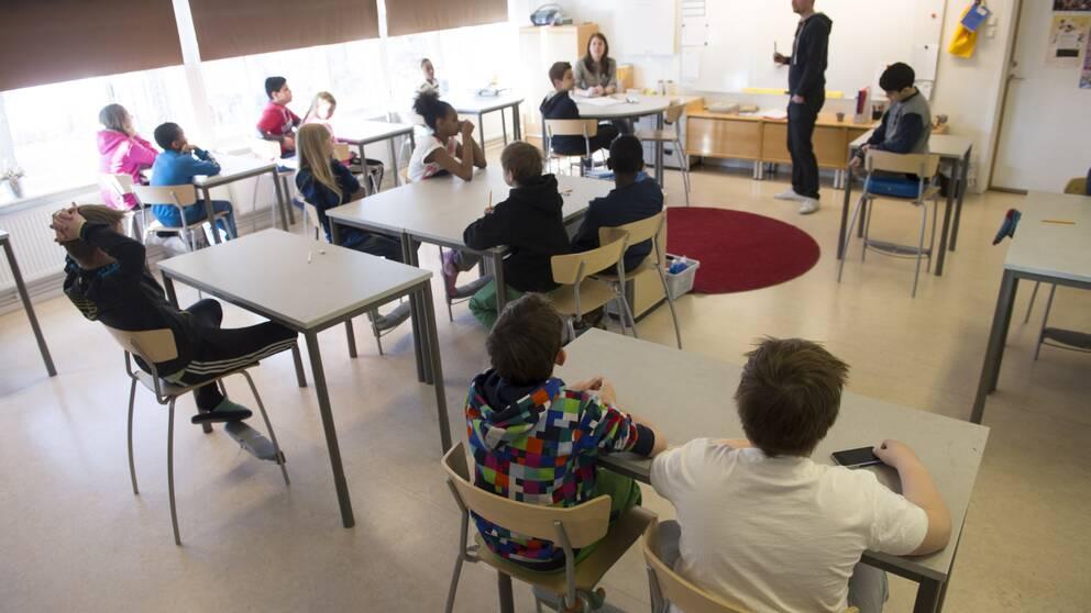 Gengrebild från ett klassrum