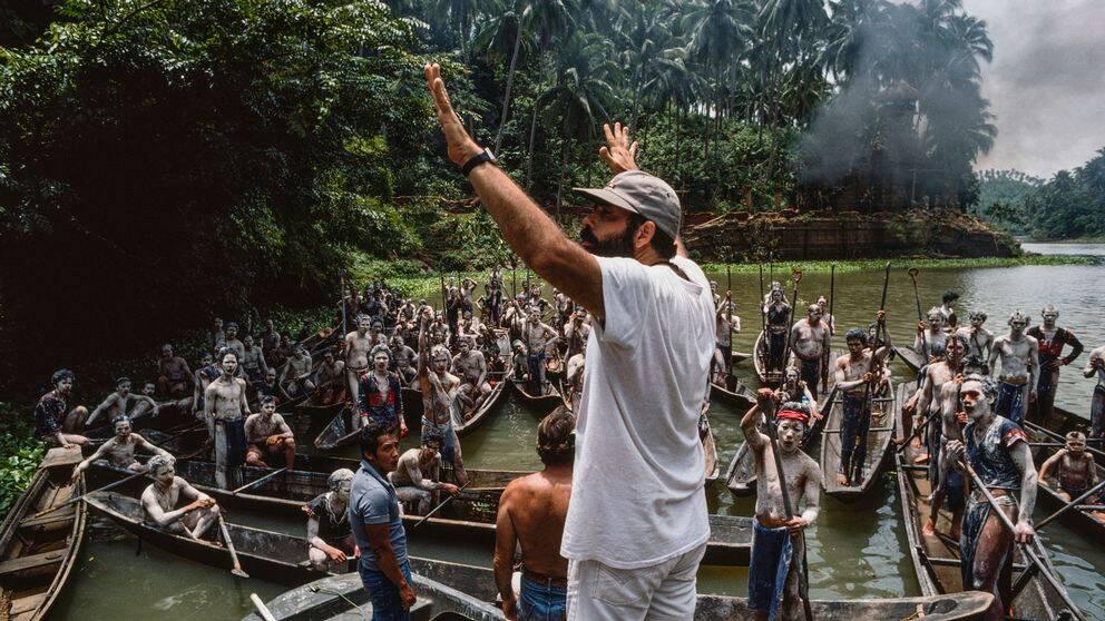 Francis Ford Coppola vid inspelningen av filmen.