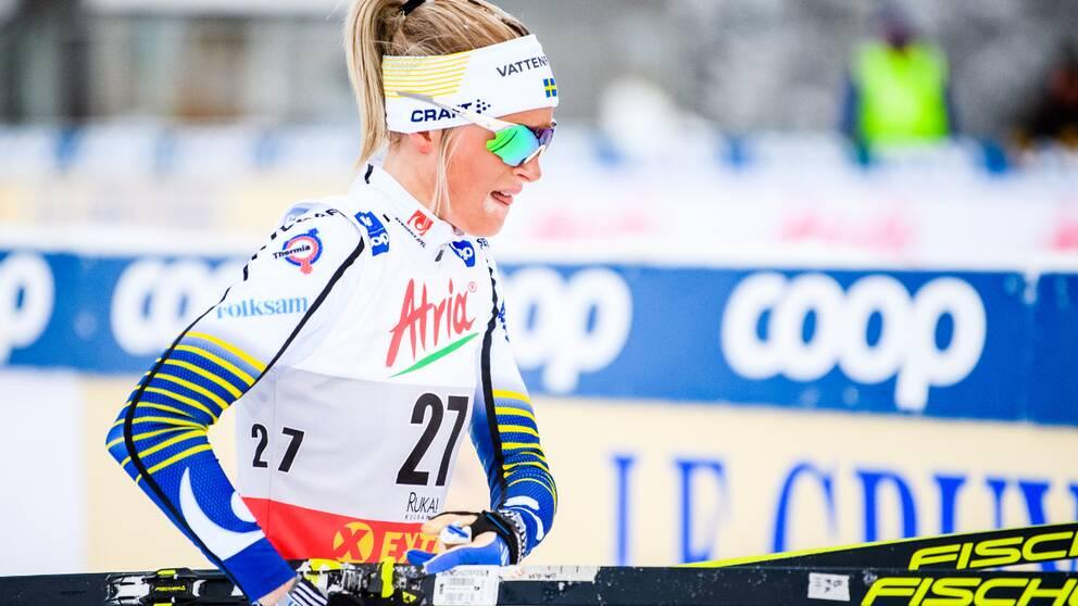 Frida Karlsson hade en tung dag i Finland.