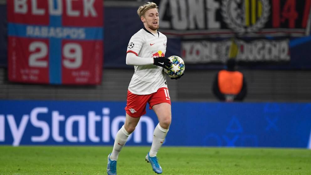 Emil Forsberg missar matchen mot Paderborn på grund av en skada.