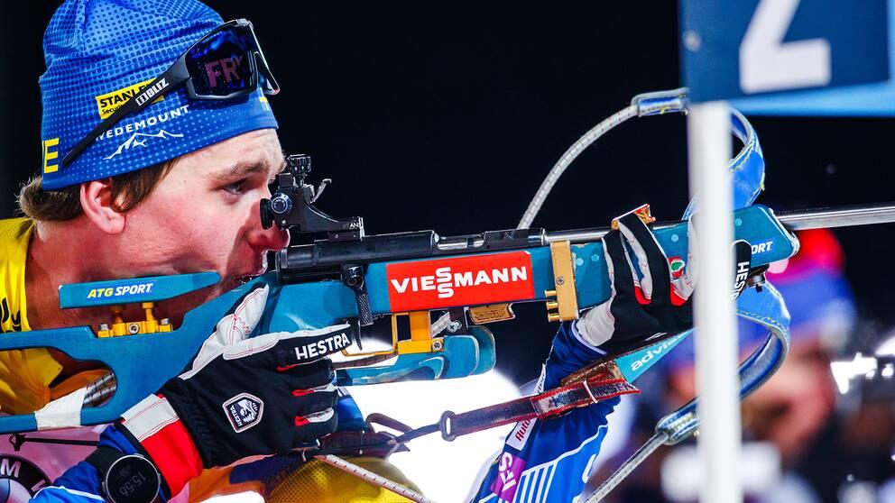 Martin Ponsiluoma kunde säkra en svensk tredjeplats i dagens mixstafett.