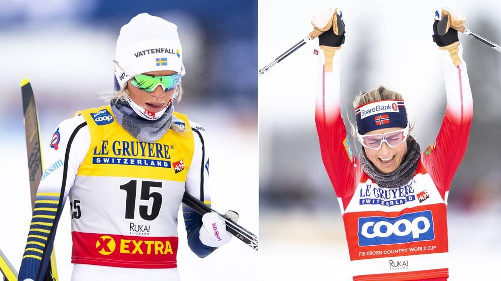 Frida Karlsson och Therese Johaug.