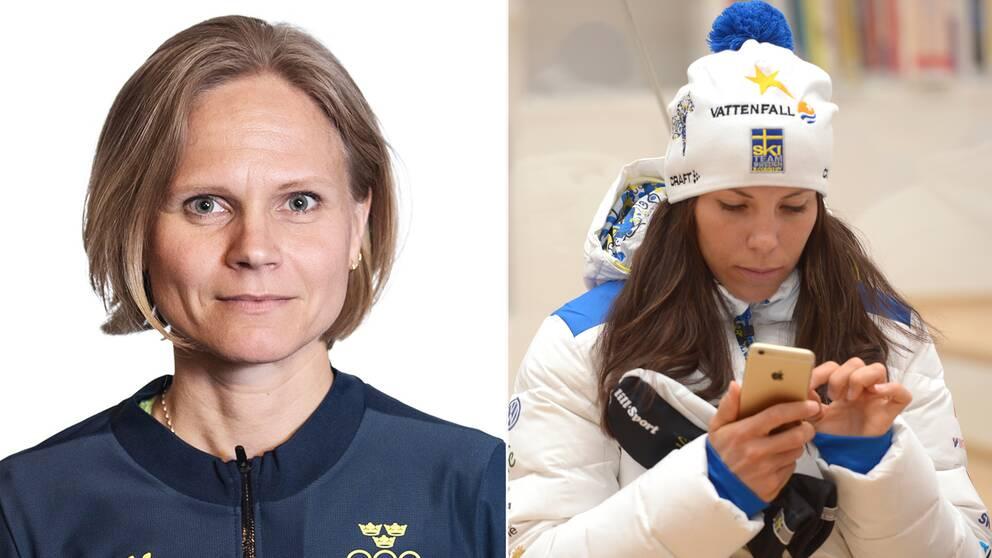 SOK:s Carolina Lundqvist till vänster.