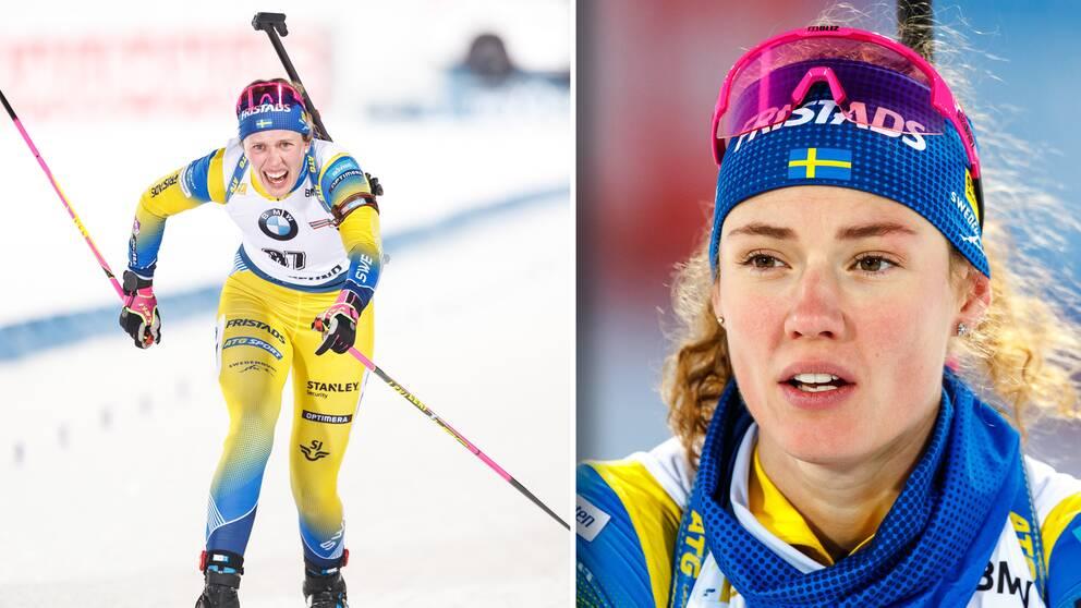 Elvira Öberg (vänster) och storasyster Hanna Öberg.