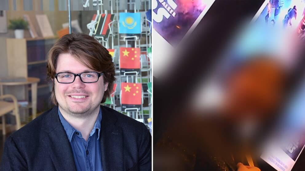 En av Huawei-cheferna hävdade att Kina inte blockerar internationella medier. Enligt Tim Rühlig (till vänster) är chefernas kommentarer inte uppseendeväckande i Kina.