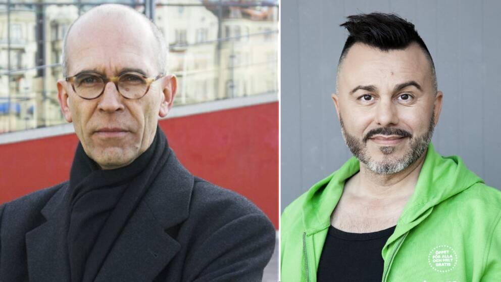 Jerker Swanstein (M) och Tasso Stafilidis (V)