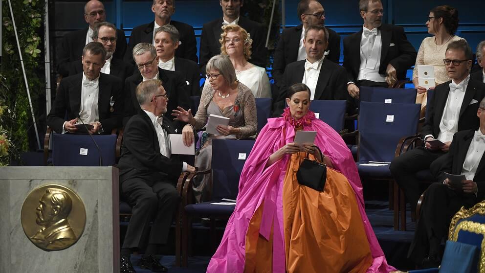 Sara Danius vid Nobelprisutdelningen i Konserthuset i Stockholm.