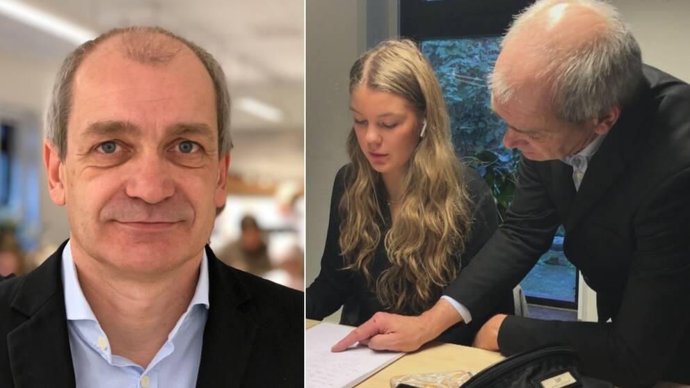 Matematik, mattelärare, klassrum, Anders Månsson undervisar