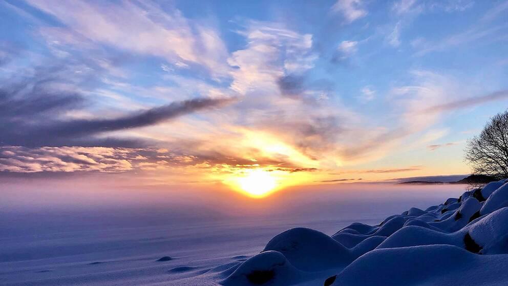 Vackert vinterväder. Östersund i Jämtland den 4/12.