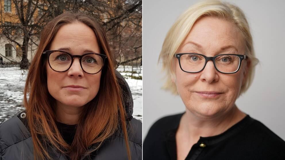 porträtt på två kvinnor