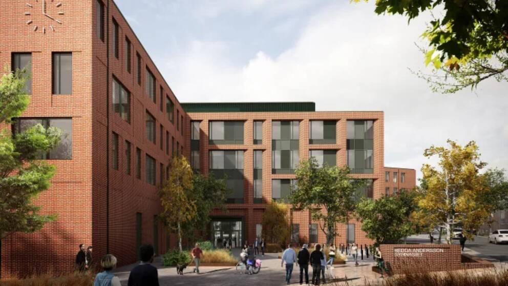 Illustrationsbild från Wingårdhs/AART över hur den nya skolan kan komma att se ut.