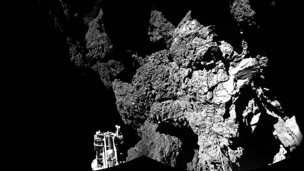 Kometlandaren Philae på kometen 67P/Churyumov-Gerasimenko