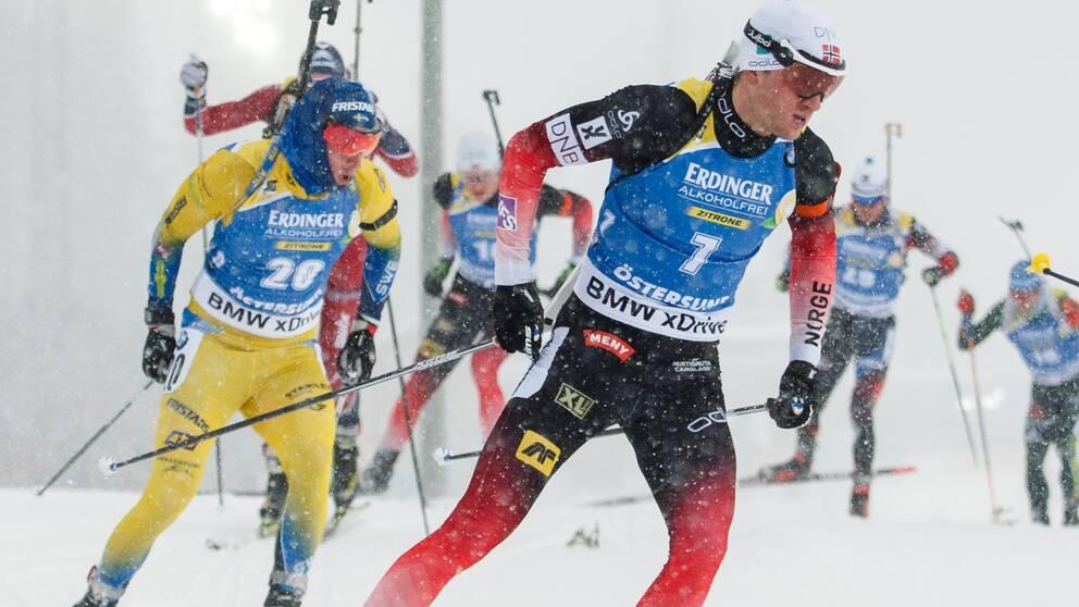 Tarjei Bö gillar att fajtas med Sebastian Samuelsson och de andra svenskarna.