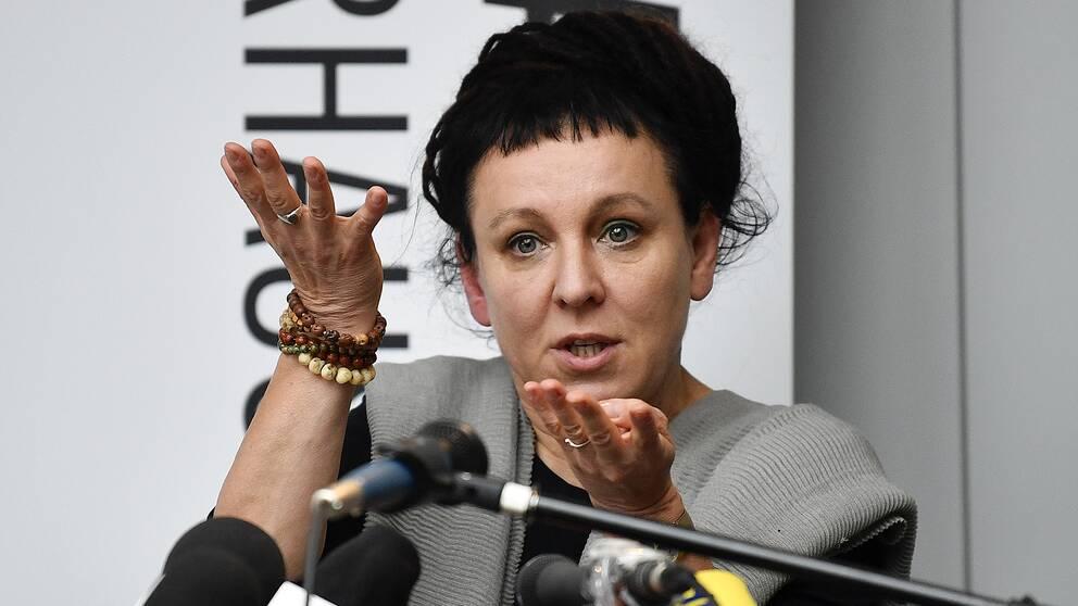 Författaren Olga Tokarczuk, vinner av Nobelpriset i litteratur 2018.