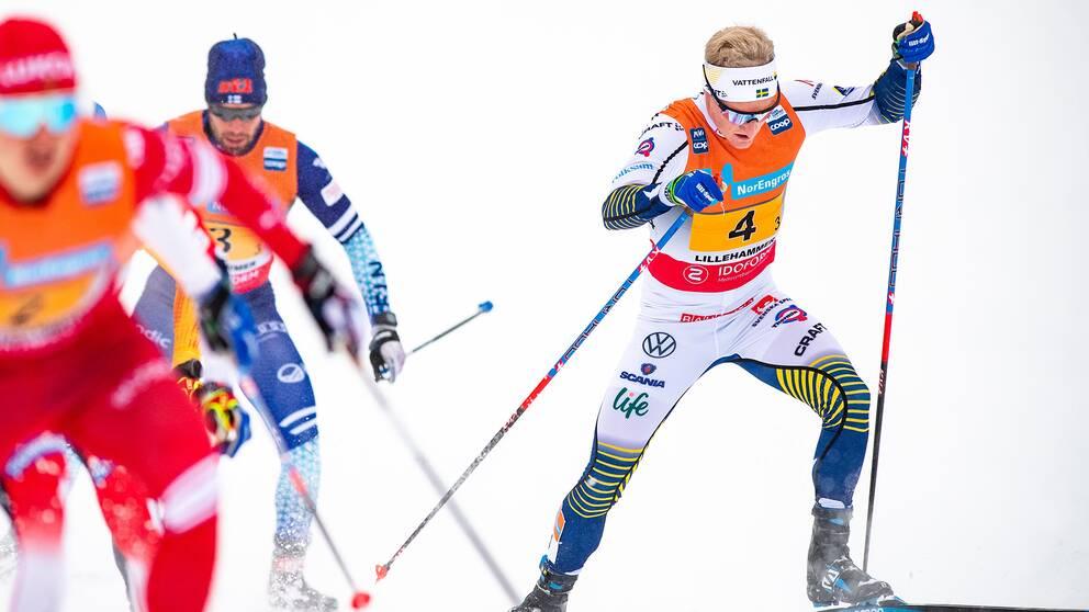 Jens Burman blev bästa svensk i Oberstdorf.