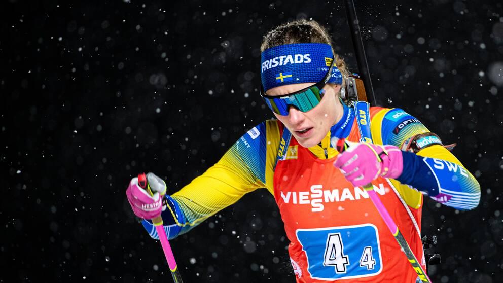 Hanna Öberg sköt tre bom i det liggande skyttet.