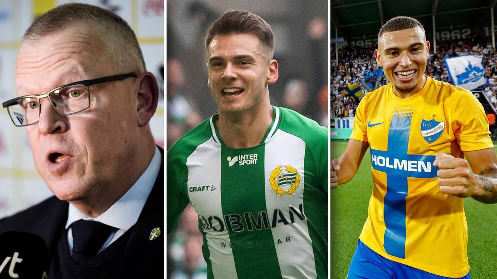 Alexander Kacaniklic (mitten) och Jordan Larsson (höger) är två av namnen i Janne Anderssons trupp.