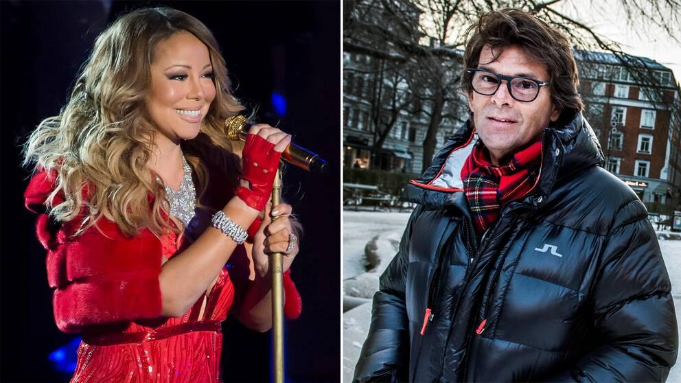 Mariah Carey och Niklas Strömstedt är två svenska julfavoriter.