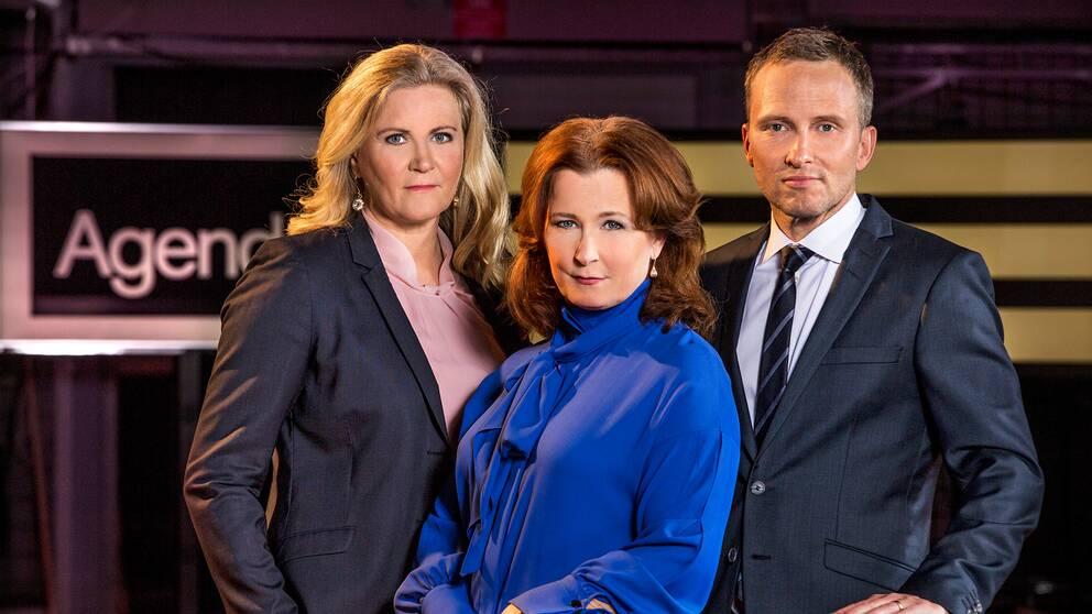 Agenda – Camilla Kvartoft, Anna Hedenmo och Anders Holmber