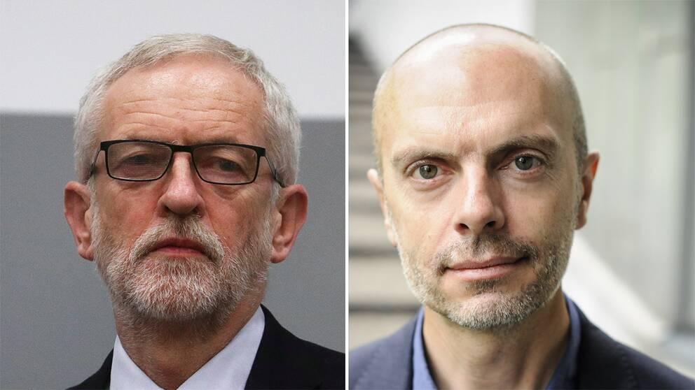 Jeremy Corbyn och Nicholas Aylott.