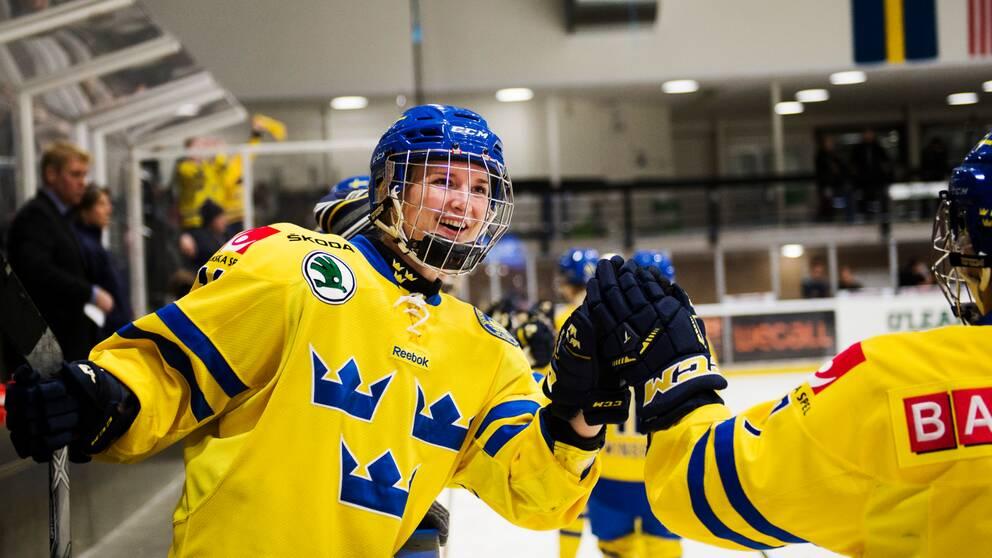 Erica Udén Johansson gjorde mål när Sverige besegrade Finland.