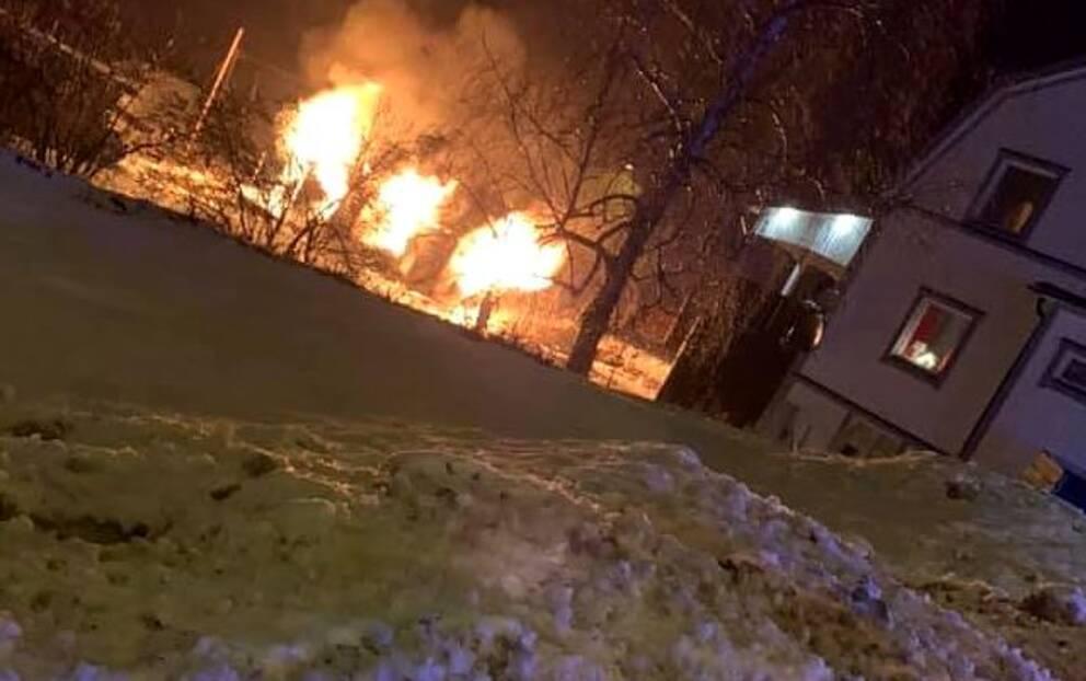 Brand i Lugnvik