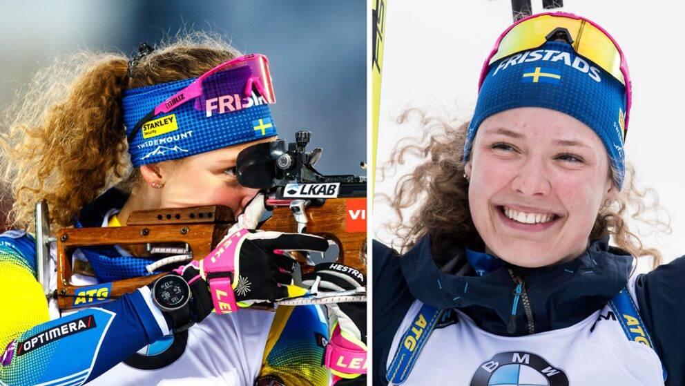 Hanna Öberg gick ut som femma med körde upp sig till andra plats i jaktstarten.