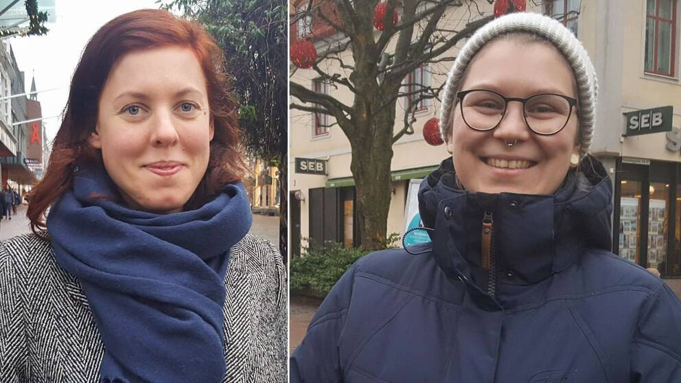 två kvinnor bredvid varandra