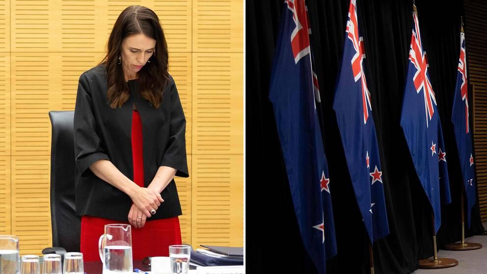Under måndagen hölls en tyst minut för offren efter vulkanutrbrottet på ön White Island i Nya Zeeland förra veckan.