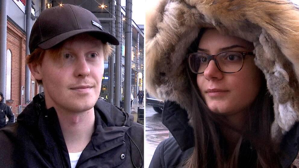 Tudelad bild, en på Torbjörn Lindell och en på Sarah Elwanni.