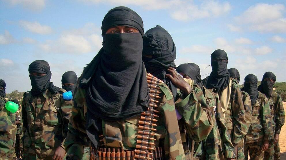 al-Shabab under en samling i somaliska Mogadishu.
