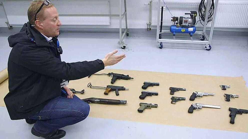 Dramatisk okning av beslagtagna vapen