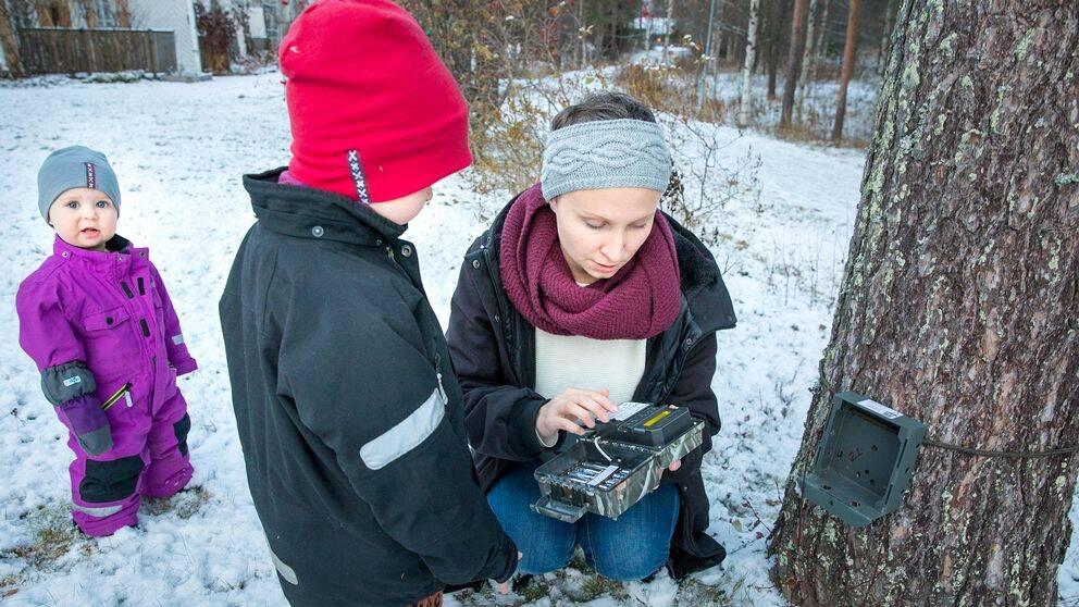 Familjen Öhmans kamera sätts upp i oktober.