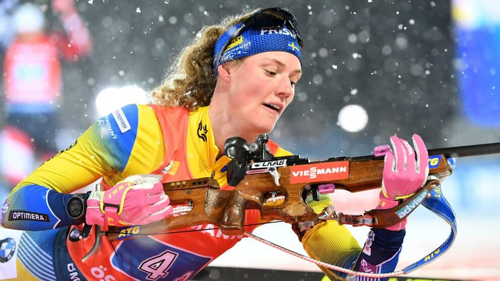 En krasslig Hanna Öberg slutade på 14:e plats i sprinten.