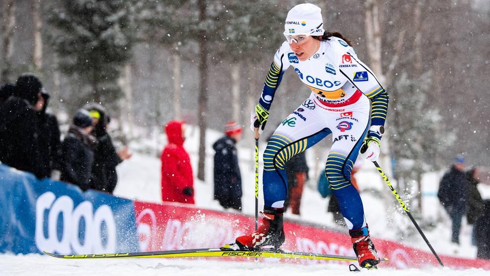 Charlotte Kalla tävlar i Tour de Ski.