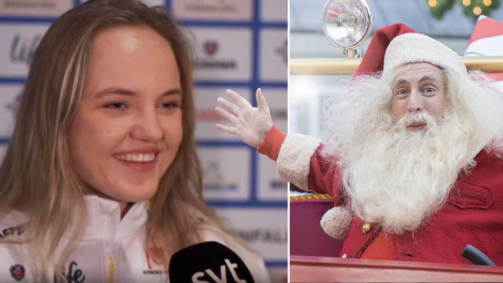 Både Linn Svahn och Stina Nilsson tittar på julkalendern varje morgon.