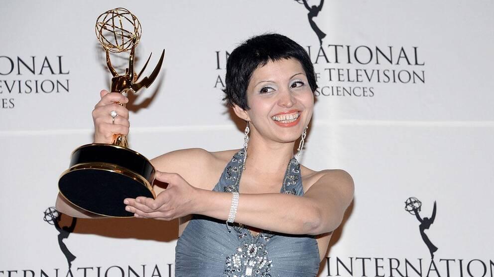 Maryam Ebrahimi tog emot Emmyn i natt.