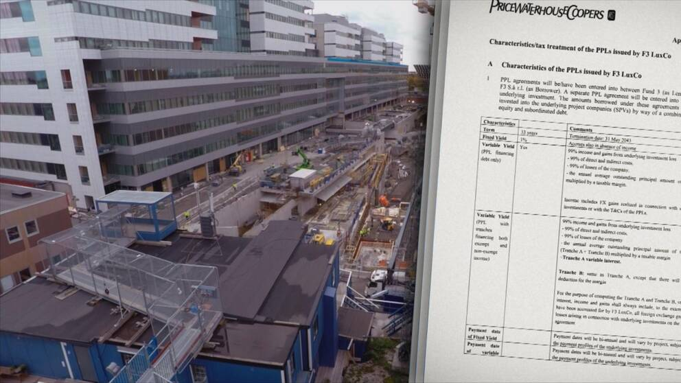 Secret documents expose an advanced tax scheme. A company involved in building the flagship hospital New Karolinska is moving money to the tax haven Luxembourg.