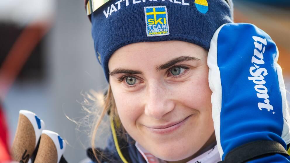 Ebba Andersson slutade trea i första etappen.