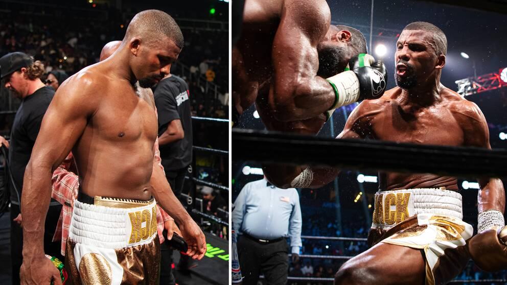 Badou Jack går till attack mot mästaren Jean Pascal inför 14129 åskådare i Atlanta, USA.