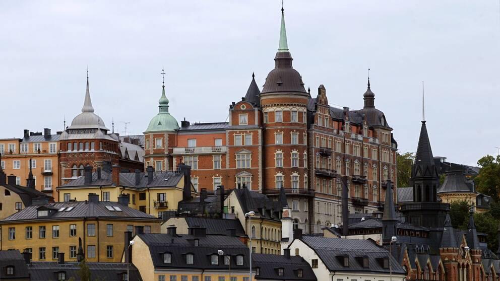 Hus på Mariaberget i Stockholm