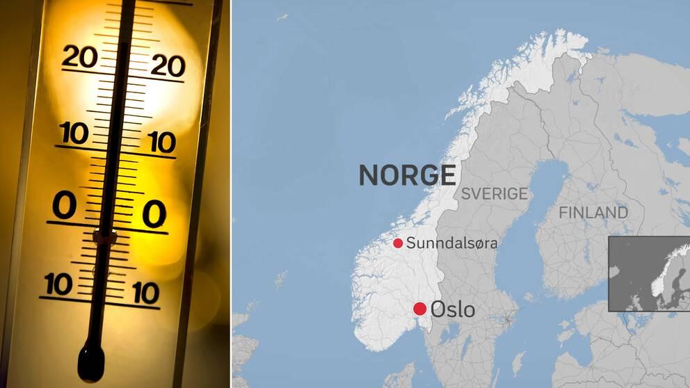Nytt värmerekord har uppmäts i Norge för januari månad.