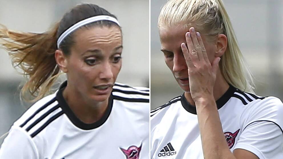 Kosovare Asllani och Sofia Jakobsson.