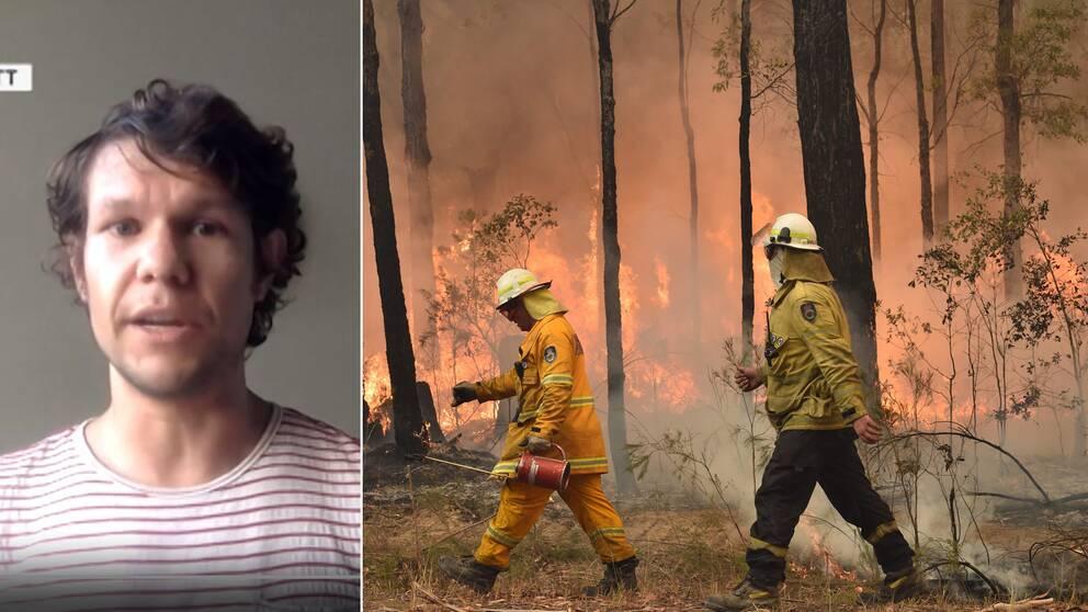 Bränderna fortsätter att rasa i Australien och extrem hetta och torka gör släckningsarbetet svårt.