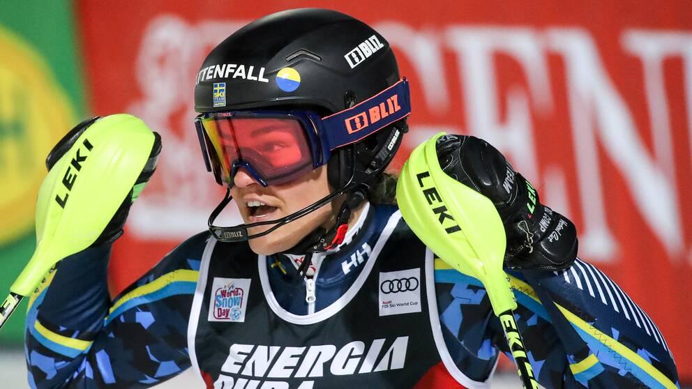 Anna Swenn-Larsson efter andra åket i Zagreb.