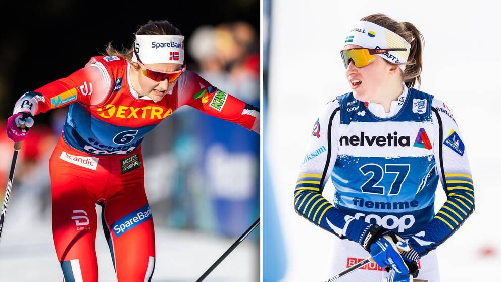 Ingvild Flugstad Östberg och Ebba Andersson.
