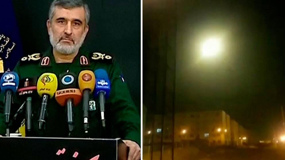 Det iranska flygvapnets högste befälhavare Amir Ali Hajizadeh